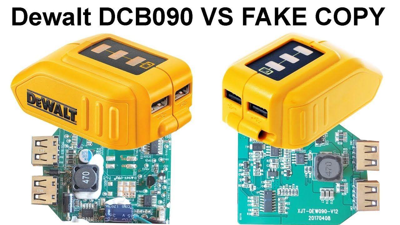 Short Review Dewalt Dcb090 And Its Fake Copy Usb Power Source For Li Ion Batteries 12v 20v Max Usb Power Source For Li Ion Ba Power Source Gaming Products Usb
