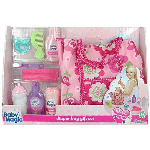 Baby Magic Doll Diaper Bag Gift Set - 10 Piece Accessory ...