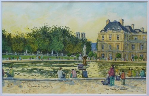 Jardin du luxembourg par charles decoudun paintings - Jardin du luxembourg enfant ...