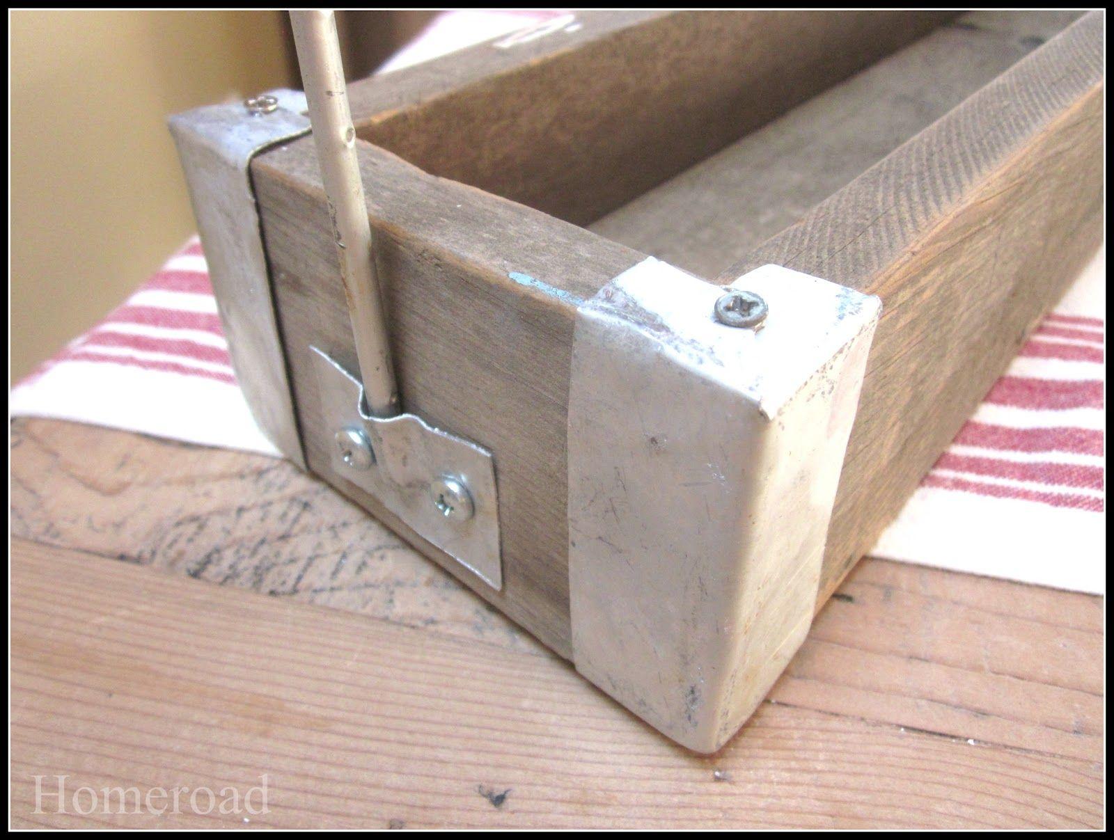 Aluminum cornered crate crates wood crates vintage wood