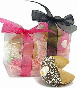 Clear Acetate Box Wedding Fortune Cookies
