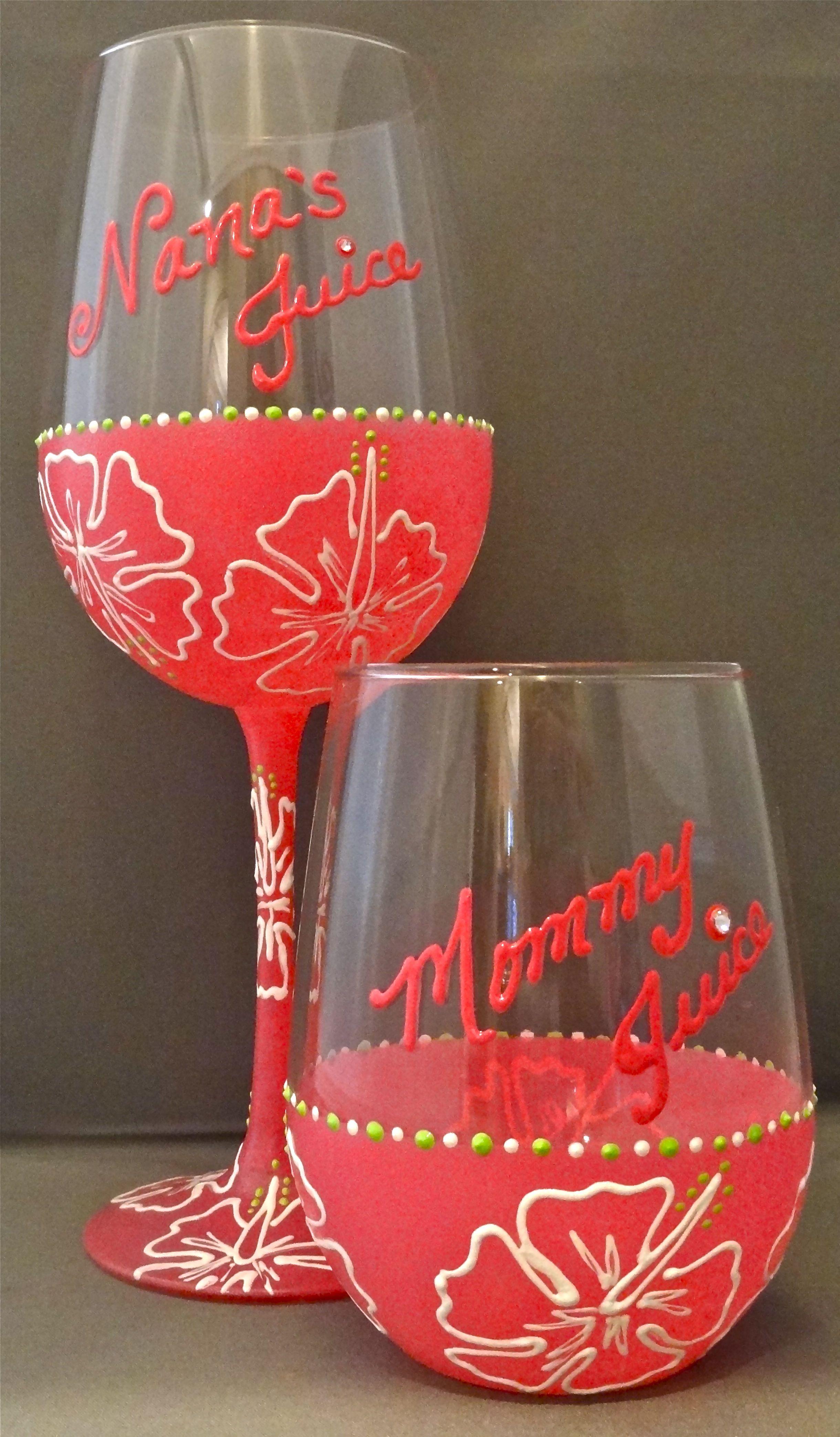 Uno Mas Glassware Painting Glassware Hand Painted Glassware Hand Painted Wine Glasses