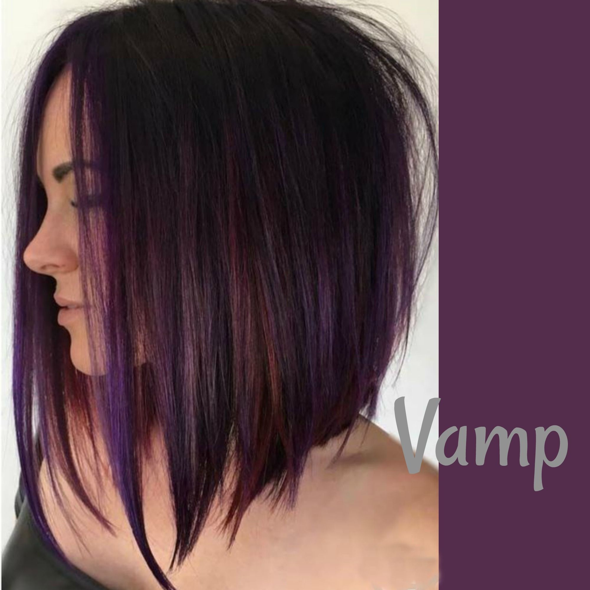 Burgundy And Violet Foils Hair In 2019 Dark Hair With