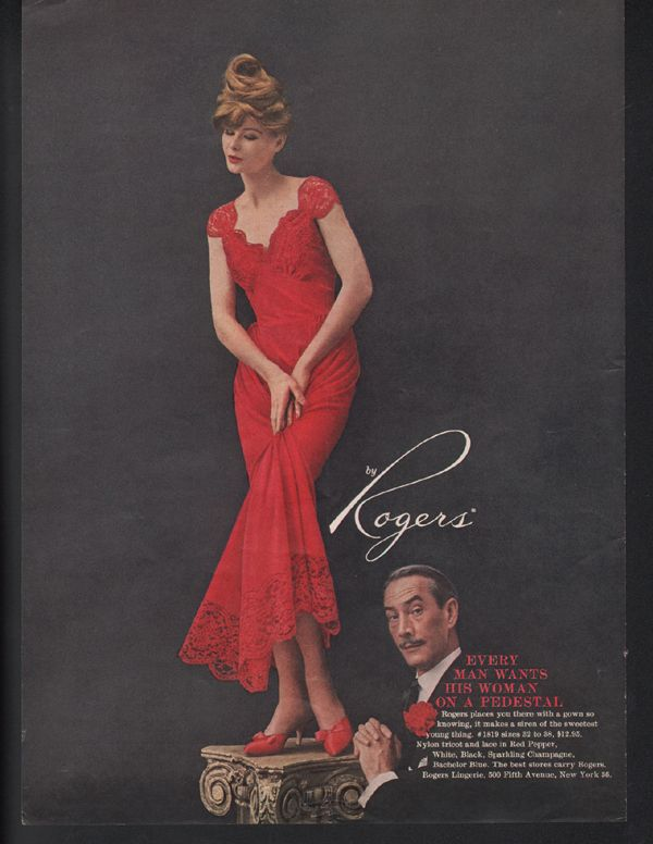 1959 FORMFIT By ROGERS LINGERIE Nightgown Ad