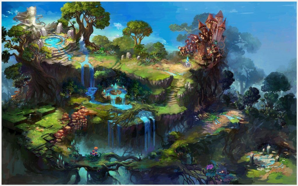 Dream Paradise Fantasy World Wallpaper Dream Paradise Fantasy