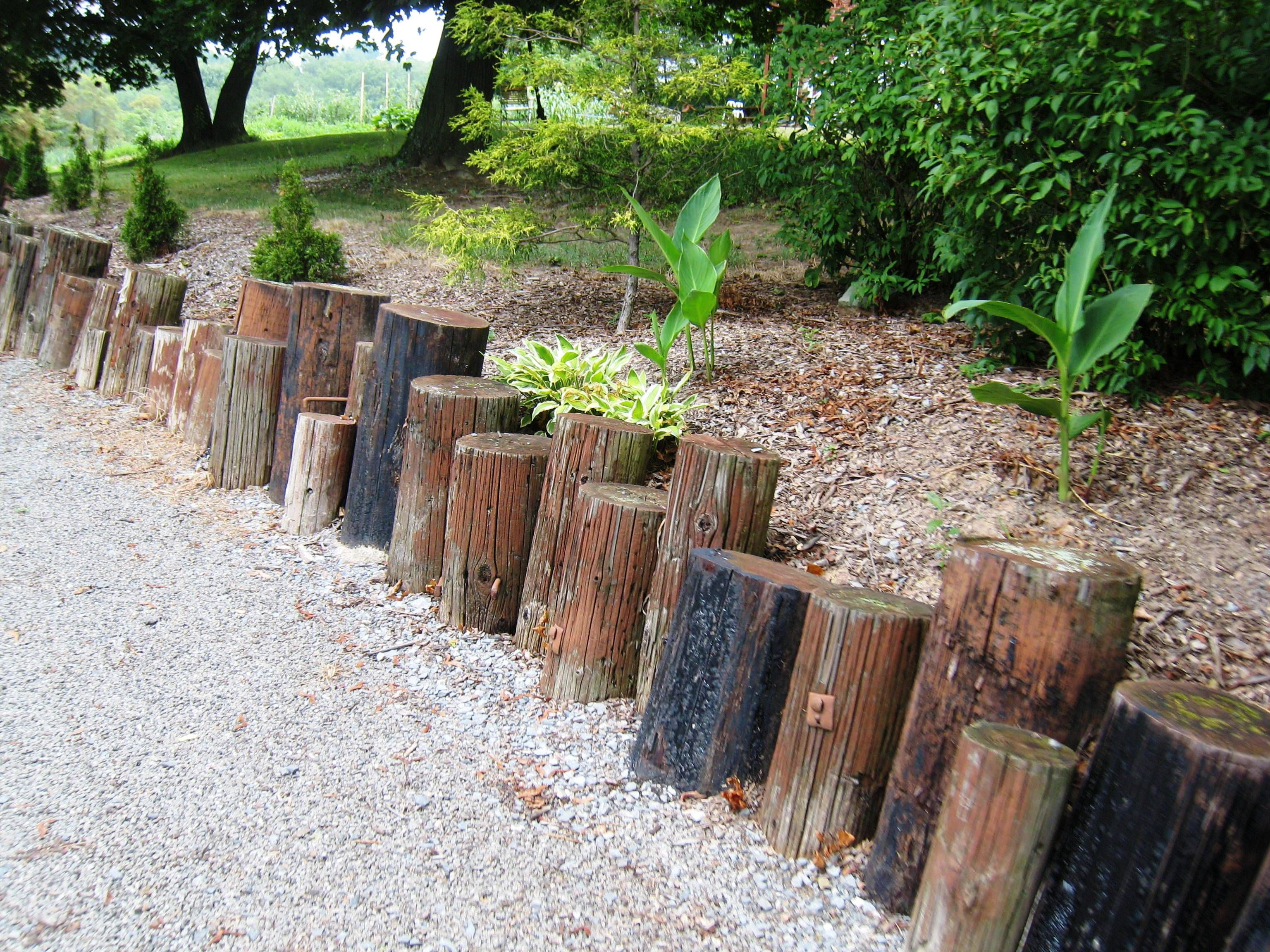 Virtually Indestructible Railroad Ties Make An Interesting Border