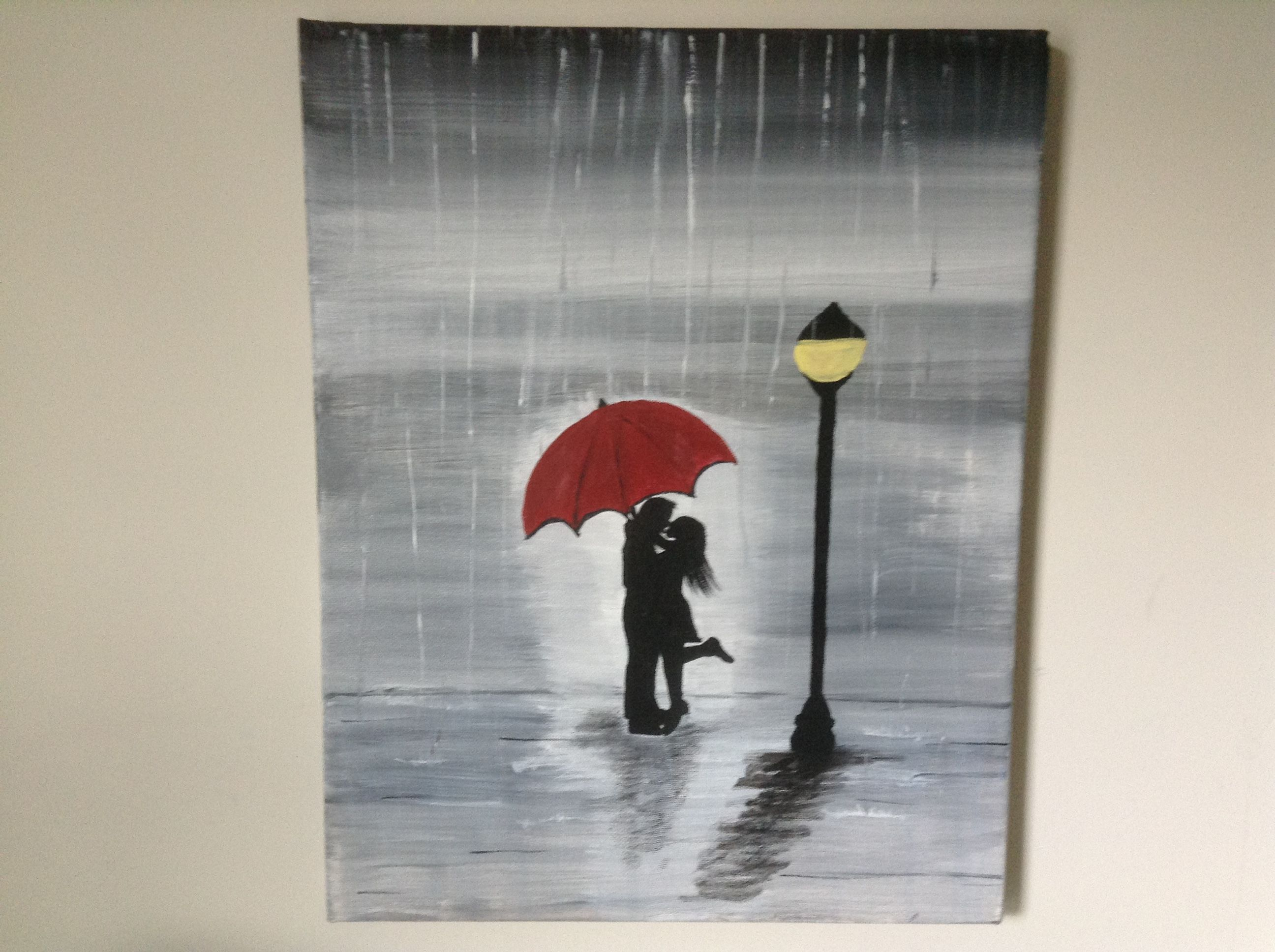 Kiss In The Rain 14x18 Going To A Very Special Home