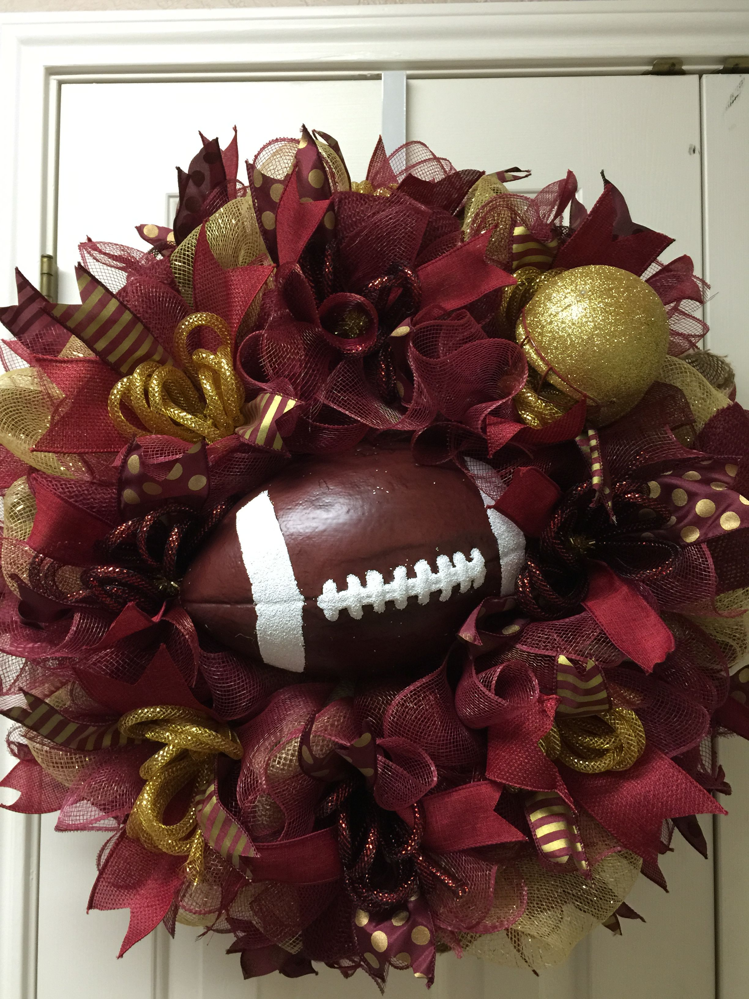 Texas State or Florida State deco mesh wreath by Twentycoats Wreath