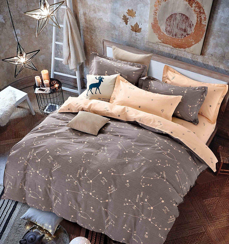 owlht 3 pieces bedding sets for unisex 100 cotton 800tc 1 duvet