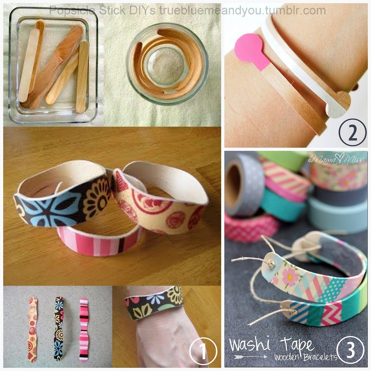 3 DIY Popsicle and Coffee Stirer Stick Bracelets. Popsicle Stick ...
