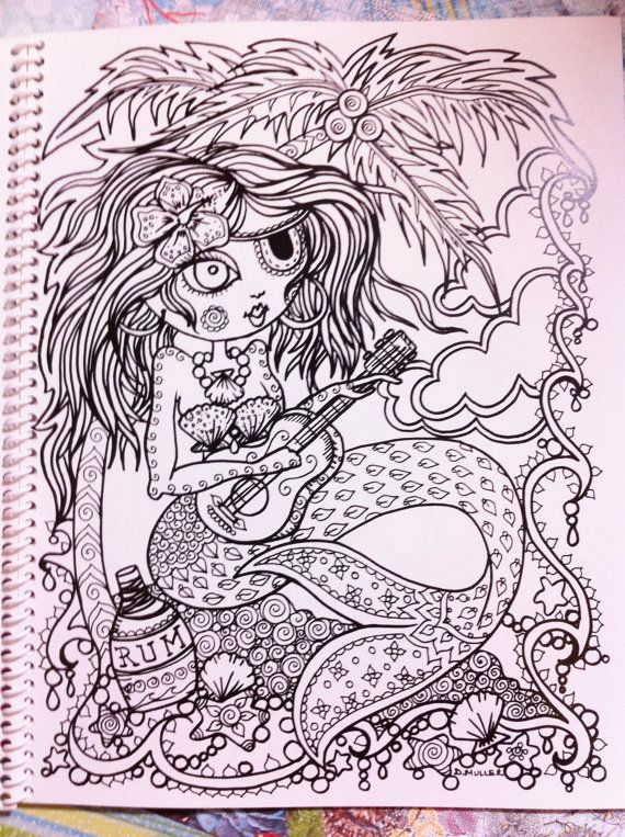 Naughty Pirate Mermaids Coloring Book For You to by ChubbyMermaid, USD12.00 #coloring ...