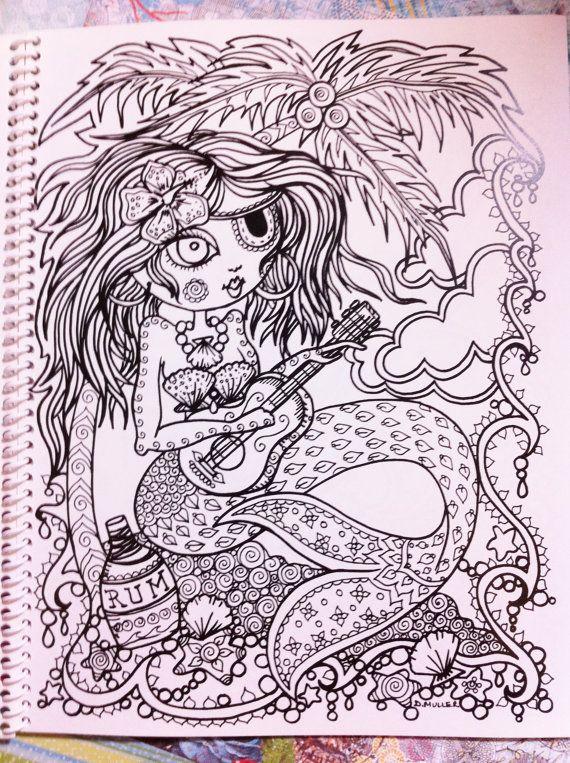 Mermaid Wonders: A Mindful Coloring Book for Adults: N/A, Deborah ...