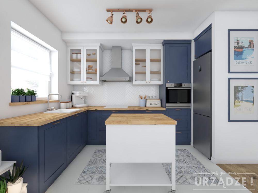 Granatowa Kuchnia Szukaj W Google Home Kitchen Interior