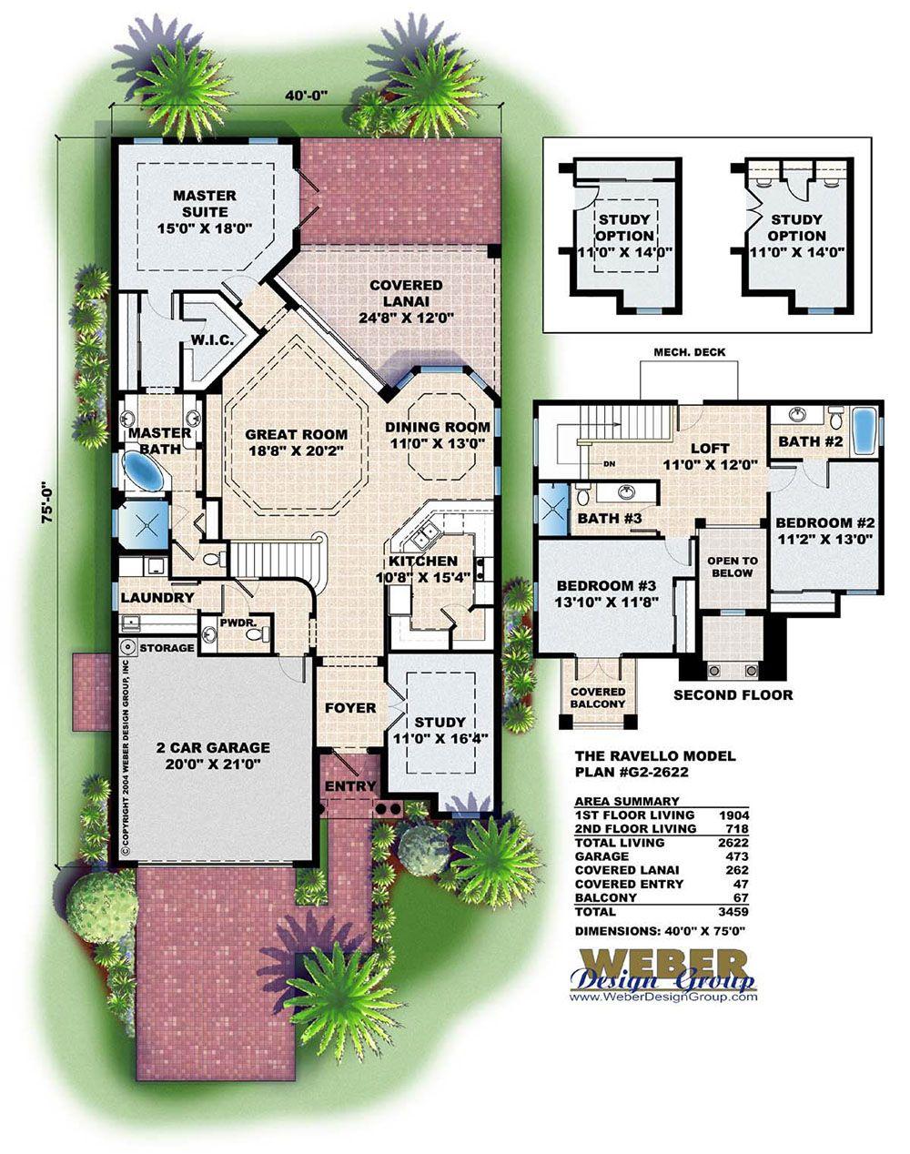 Mediterranean House Plan Luxury Contemporary Narrow Lot Home Plan Mediterranean House Plans Florida House Plans Mediterranean Floor Plans