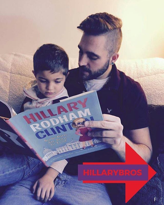 Our #HillaryBros are already hard at work , inspiring the minds of our next generation of HillaryBros. #ChelseaBros anyone? --------------------------- #NotMyPresident #TheResistance  #HillaryBros #StillWithHer #HilllaryNation #StrongerTogether ---------------------------- Official Instagram of the Democratic Bros #DemBros a.k.a #HillaryBros. Working to elect Democrats in 2018 and 2020.