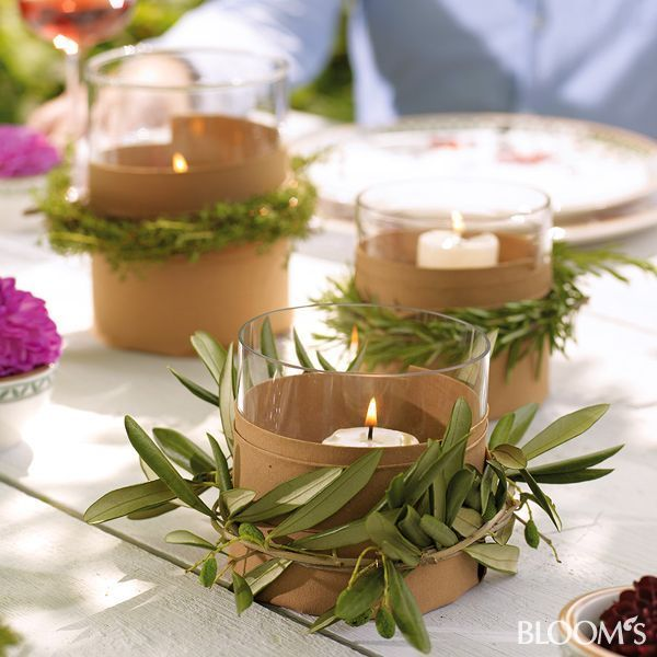 Photo of Mediterranean table decoration for the garden party