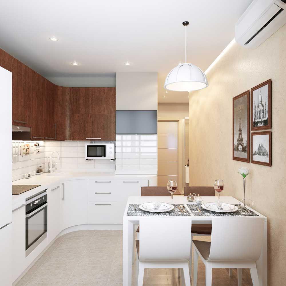 Маленькая кухня дизайн фото 8 кв м