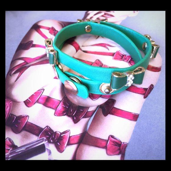 Fashion bracelet Trendy double wrap with adjustable gold snap buttons Jewelry Bracelets