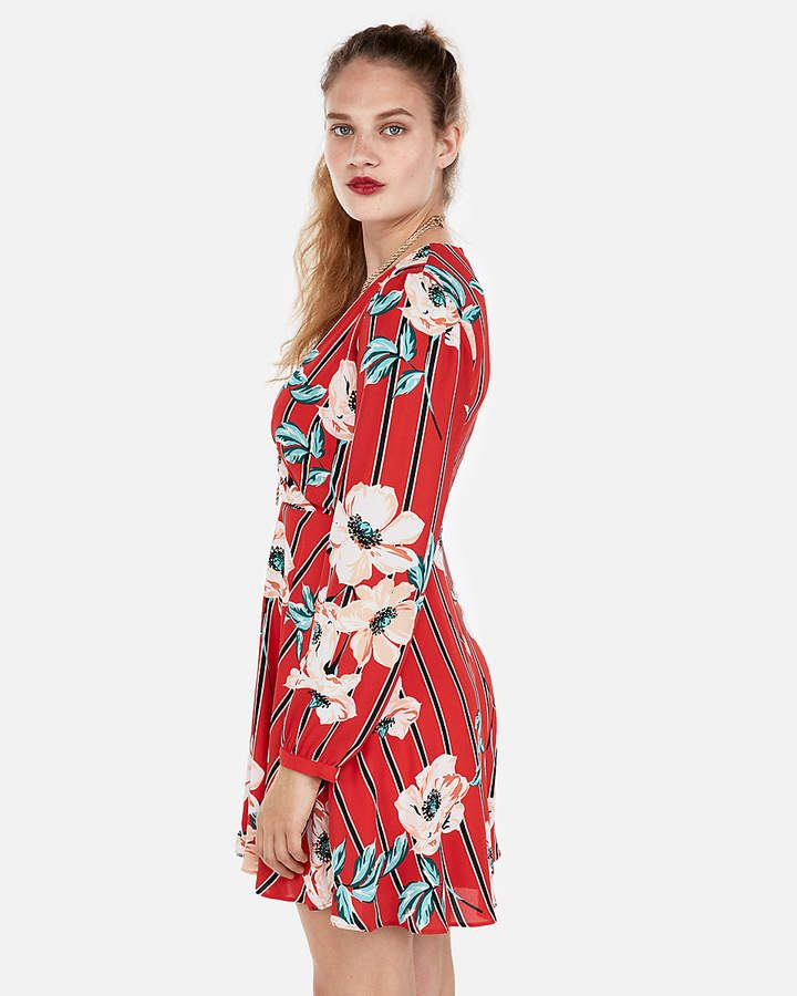 d9cfeb60 Express Petite Floral Surplice Fit And Flare Dress | Products ...