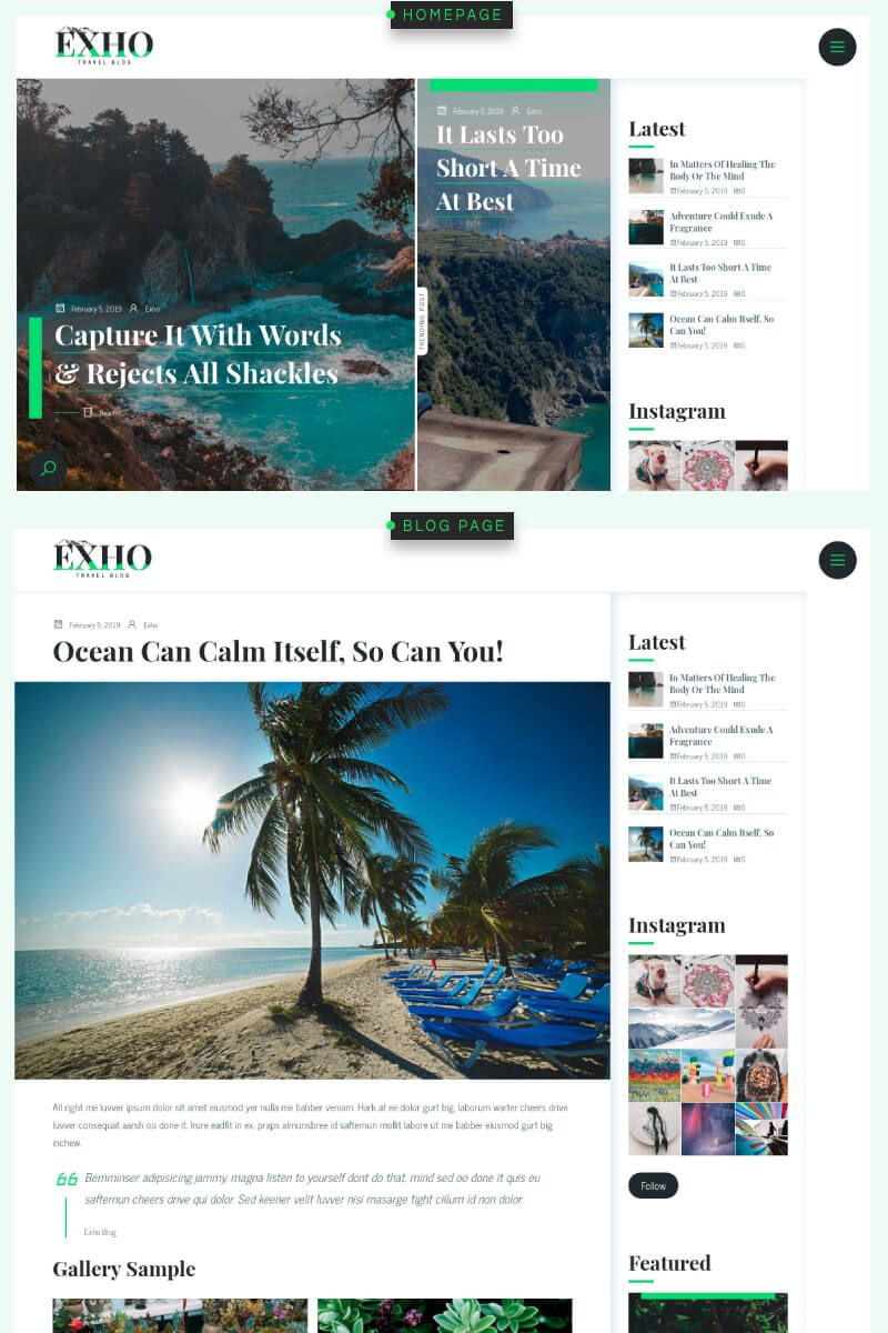 Exho is a responsive #WordPress #blog #theme (for self-hosted