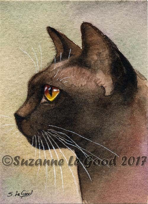 ACEO DEVON REX CAT /& KITTEN PRINT FROM ORIGINAL PAINTING BY SUZANNE LE GOOD