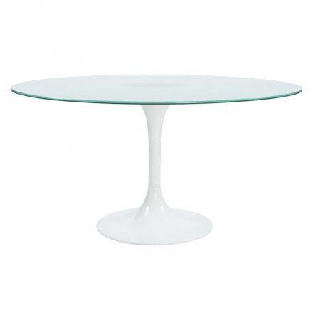 table design ronde florane en verre