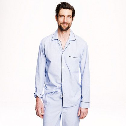 j crew cotton poplin pajama set for john maybe