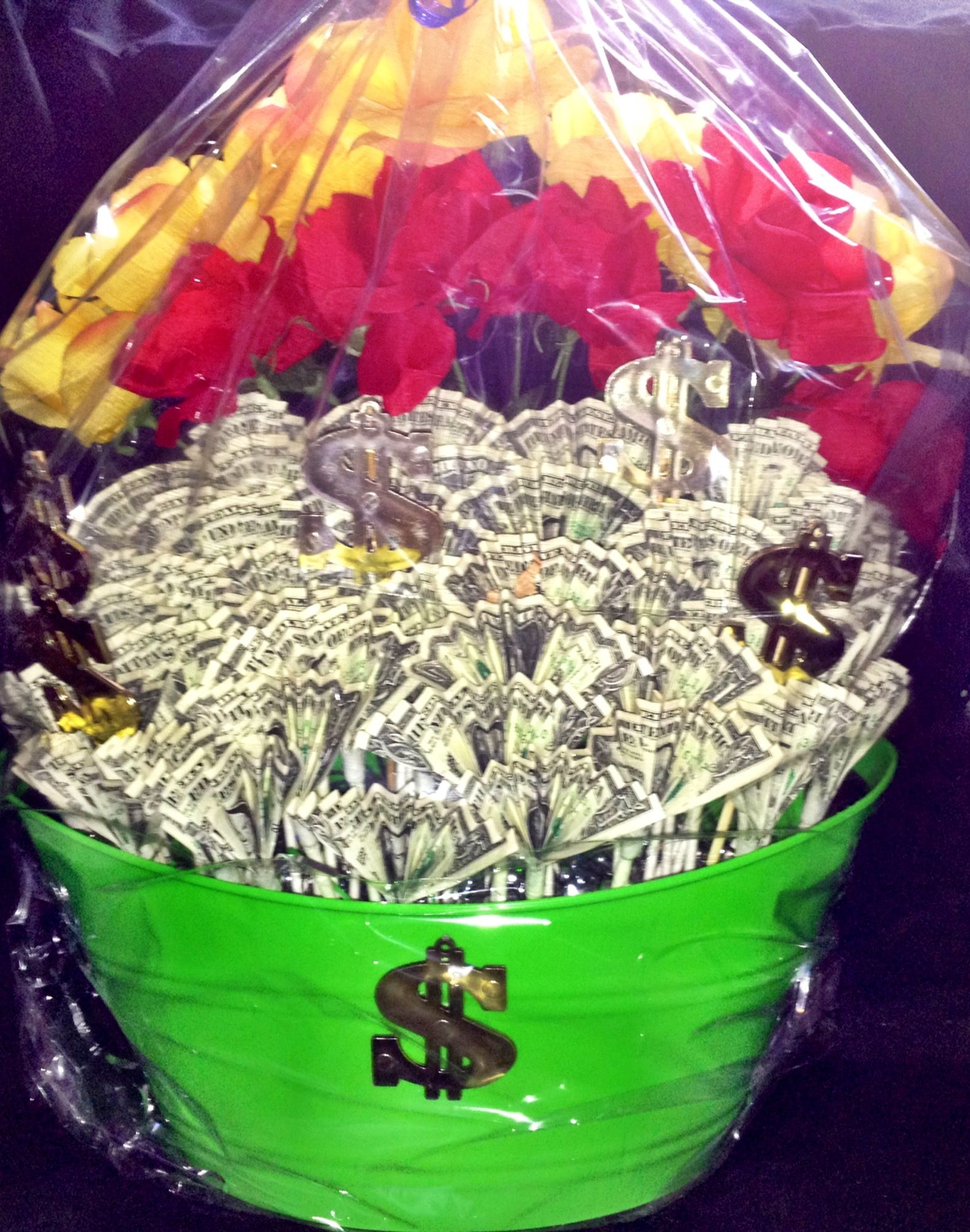 Cash Boquet Raffle Basket