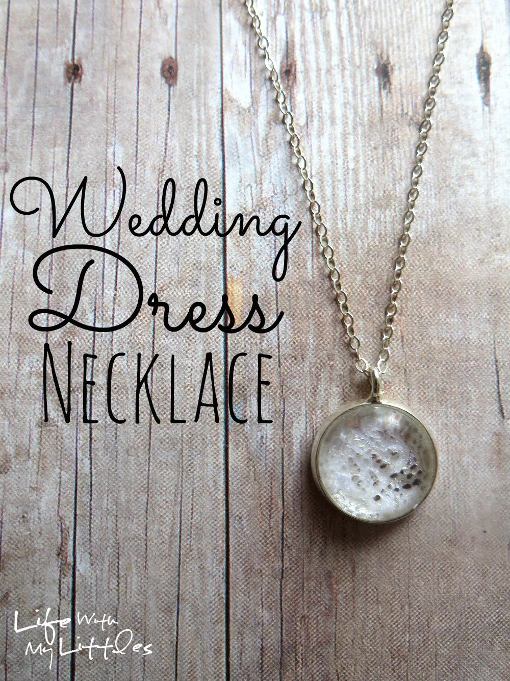 things to do with your wedding dress necklace tutorial