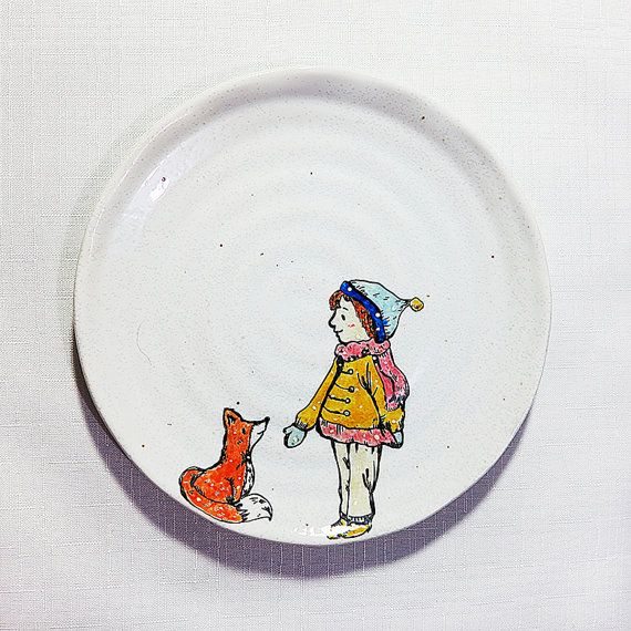 Hand Painted Ceramic Plate art ceramic by 20StudioCreations  sc 1 st  Pinterest & Hand Painted Ceramic Plate art ceramic by 20StudioCreations ...