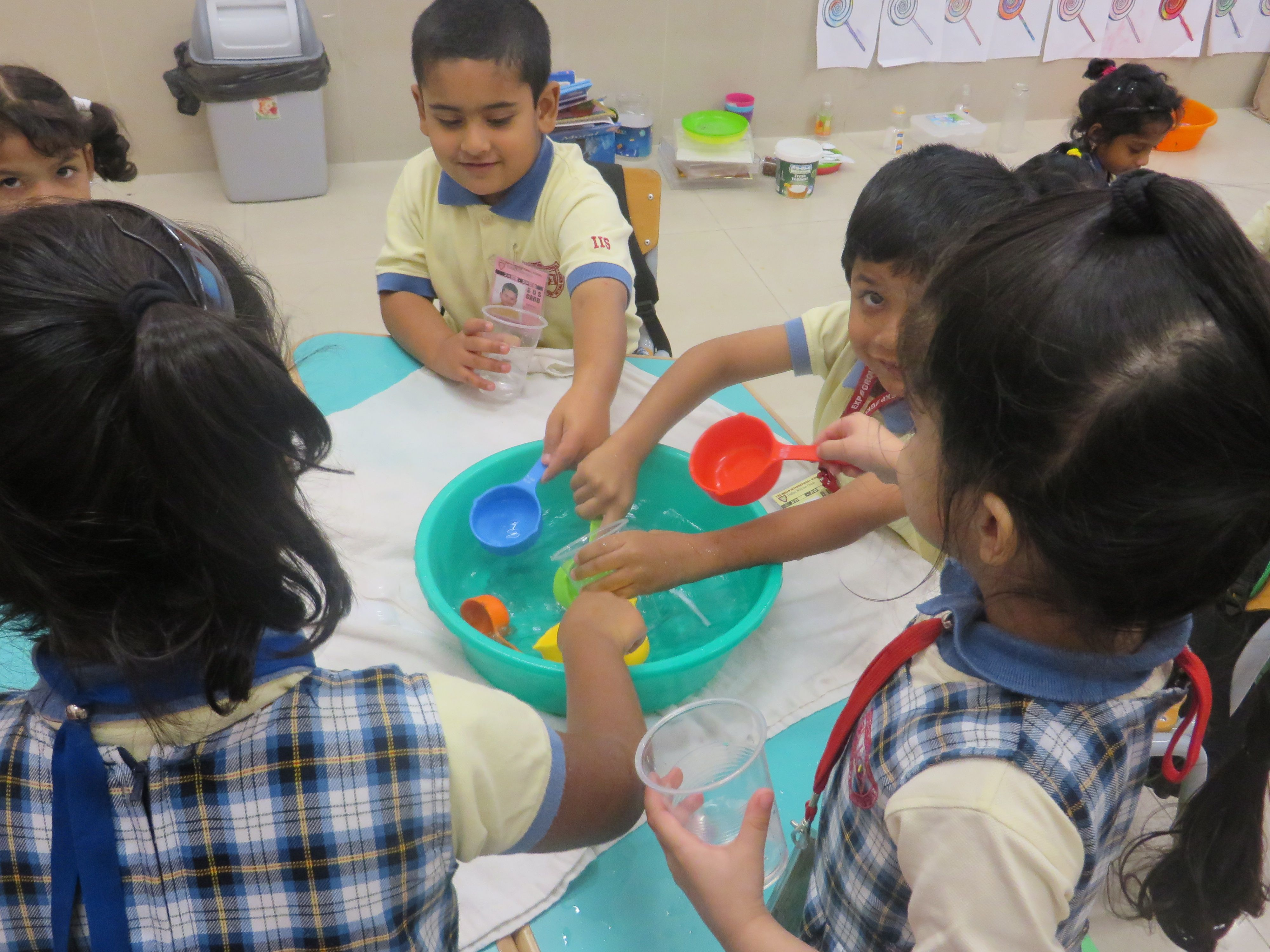These Wonderful Kids At Iis Are Engaged In The Full And Empty Activity Using Comparative Words