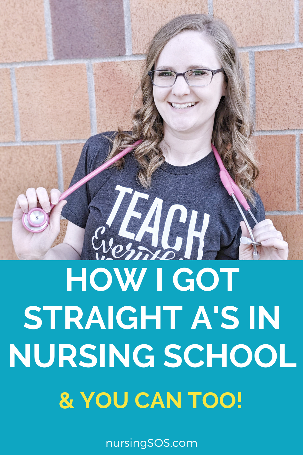 Learn how I got straight A's in nursing school and you can too! Learn these nursing school student studying tips about how to PASS nursing school, How to study the important concepts and fully understand them, How to focus your efforts on the topics you don't fully understand, and time management tips! Click here to #nursingstudents