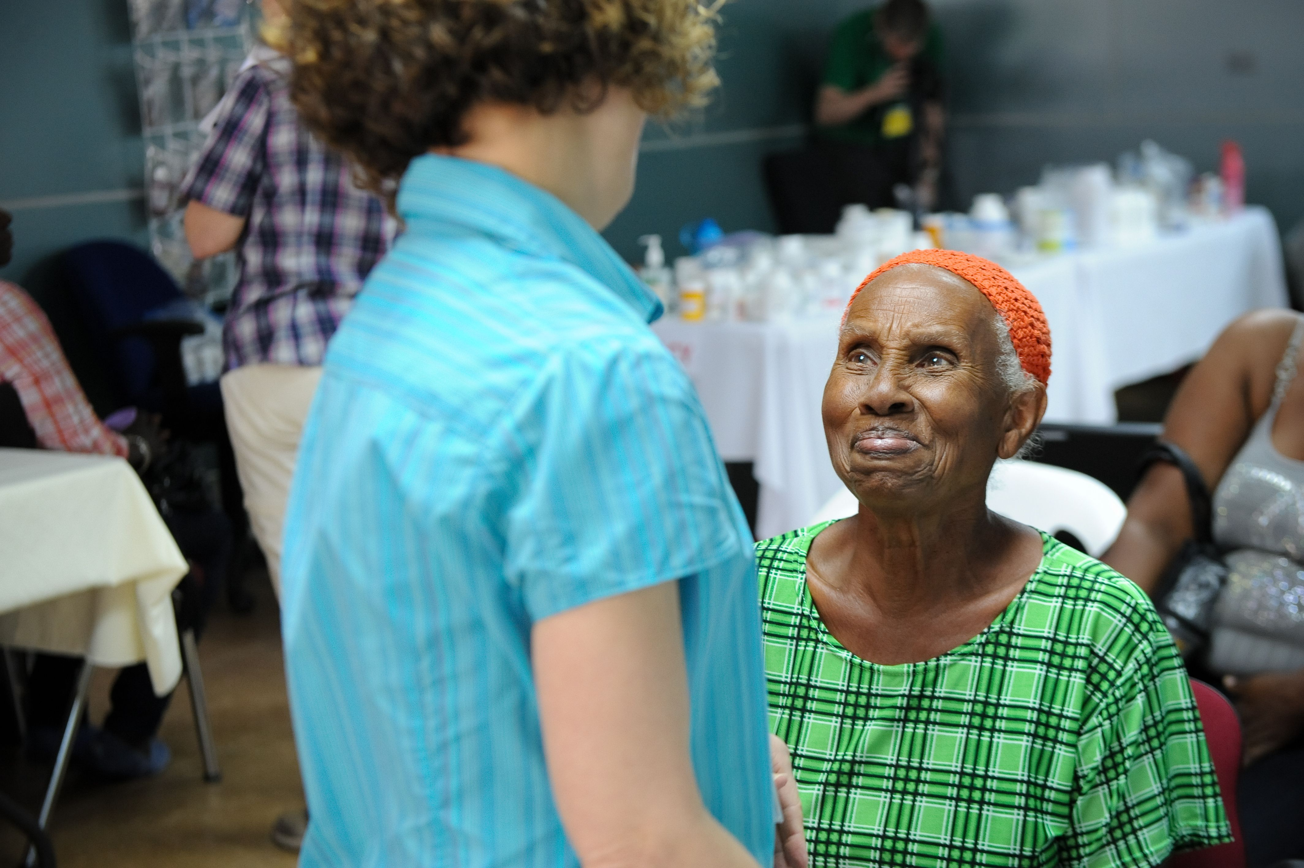 A smile of friendship, at a MTW medical trip in Trinidad.
