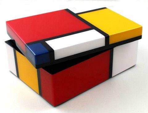 mondrian medium box mondrian pinterest mondrian and de stijl. Black Bedroom Furniture Sets. Home Design Ideas