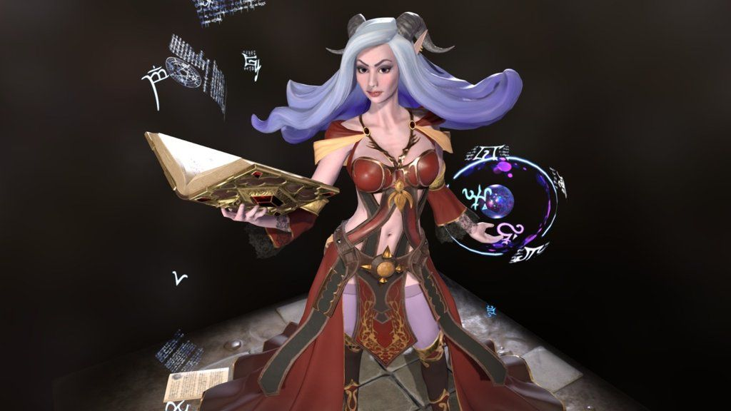 Kalestra the Sorceress by aed   anatomia 360 grados   Pinterest