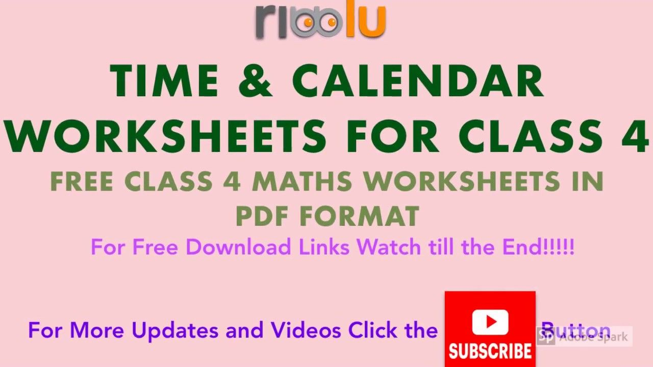 Time And Calendar Grade 4th Maths Worksheets Cbse Class 4 Practice Math Worksheet 4th Grade Math Calendar Worksheets [ 720 x 1280 Pixel ]