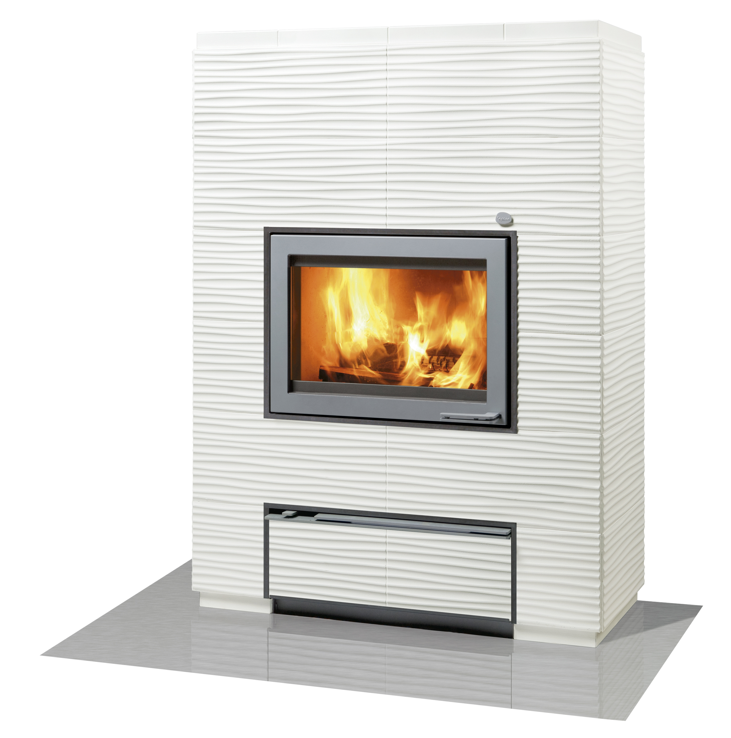 Tulikivi Hiisi 4 fireplace is made of soapstone Tulikivi s