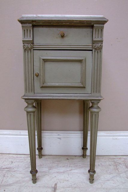 Antique French Bedside Table Tables