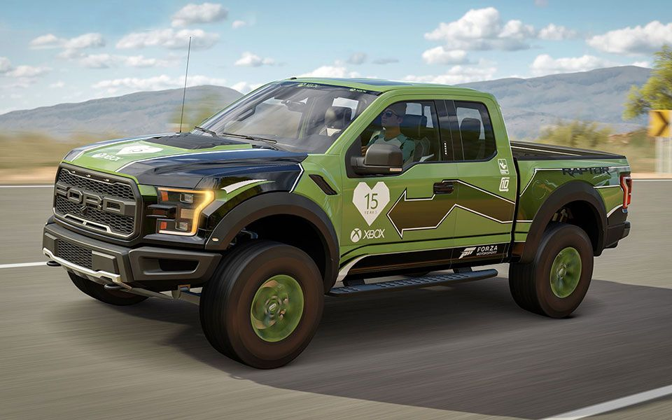 Forza 2017 Ford F 150 Raptor Gets Custom Livery To Mark Xbox 15