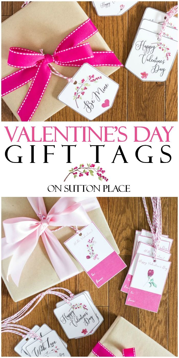 Valentine\'s Day Free Printable Gift Tags | Free printable gift tags ...