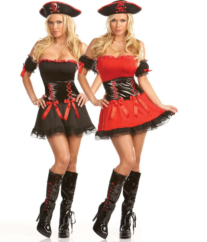 Two if by Sea Pirate Reversible Adult Costume,$56.99 - Cosplay dress, Costumes for women, Female pirate costume - 웹