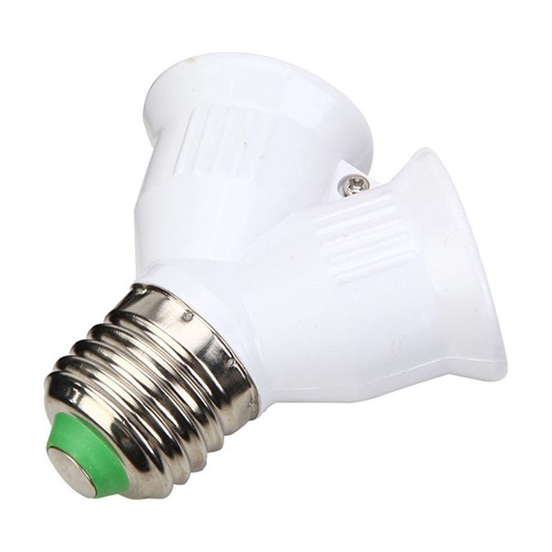 Jiguoor E27 A 2 E27 Portalampade Converter Zoccolo Led Tipo Lampada Base E27 A 2e27 Adattatore Splitter Per La Lampada A Led Bulb Adapter E27 Lights Light Accessories