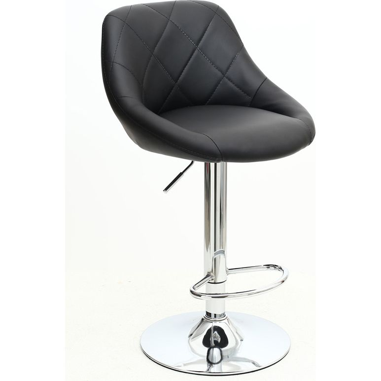Lovely White Faux Leather Bar Stools