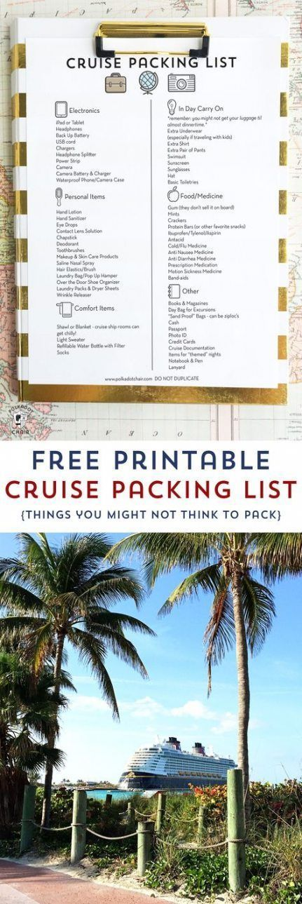 50 Ideas travel packing organization free printable #travel #50freeprintables