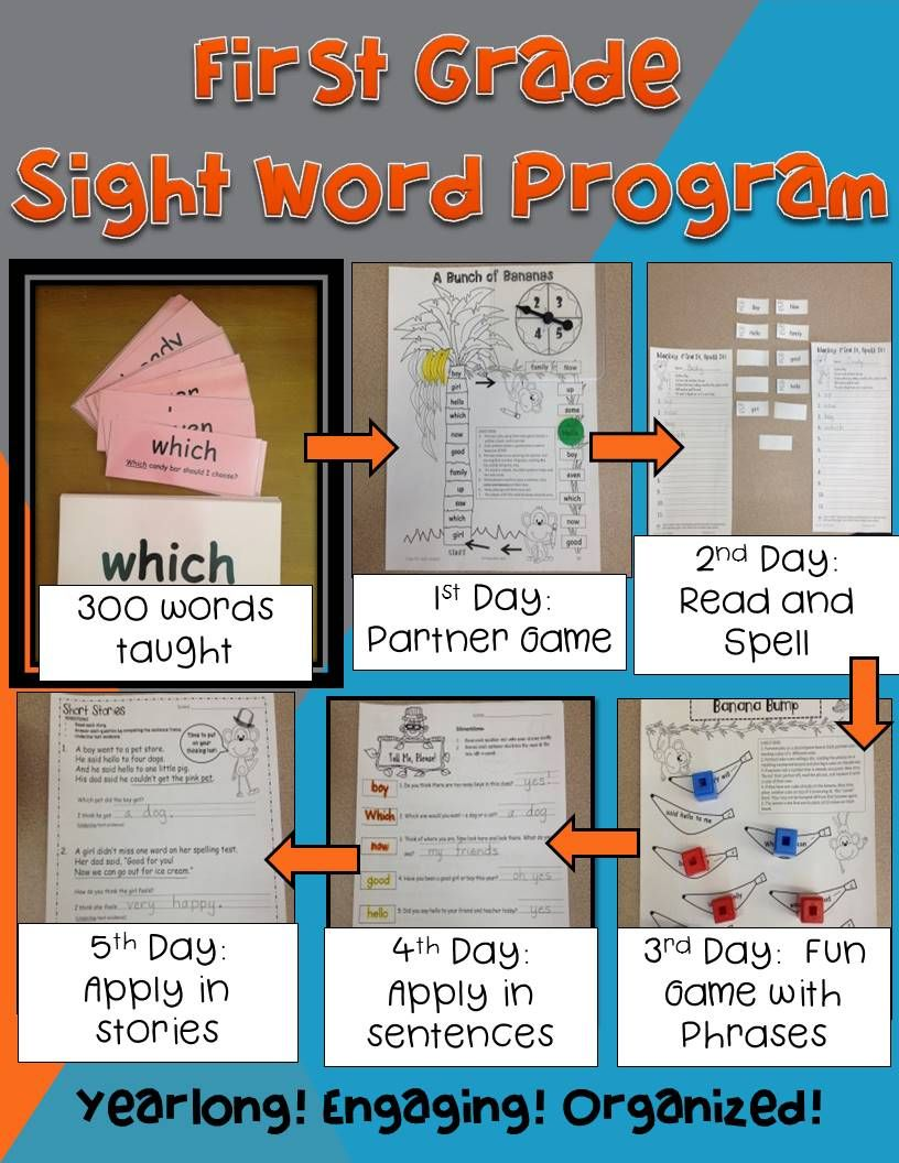 First Grade Sight Word Program (High Frequency Words) Outstanding
