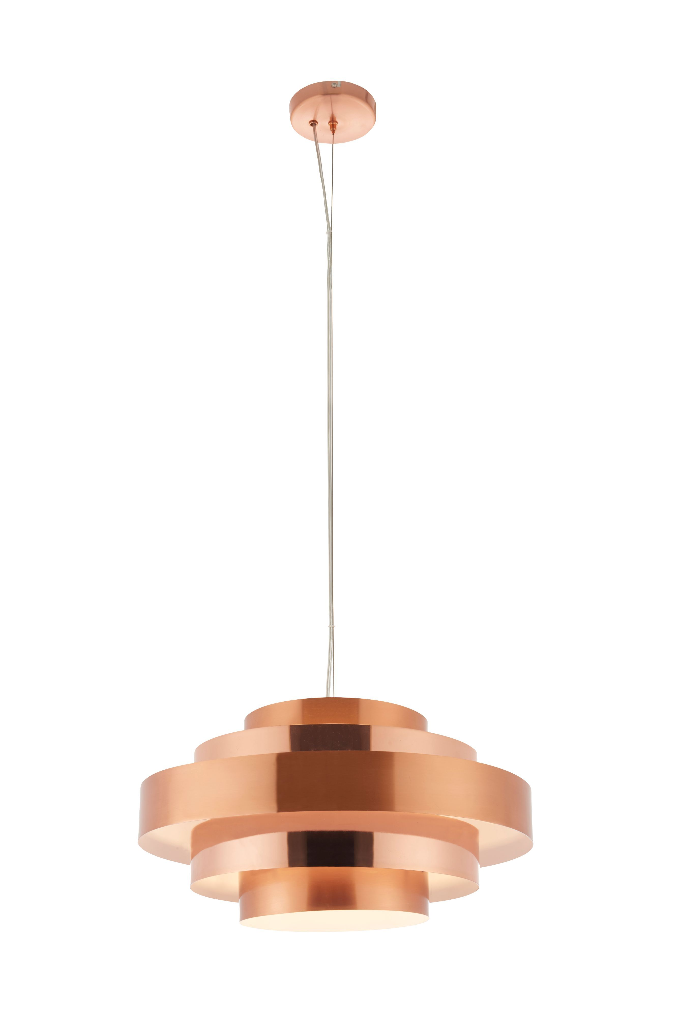 Rizo Brushed Copper Effect Pendant Ceiling Light Departments