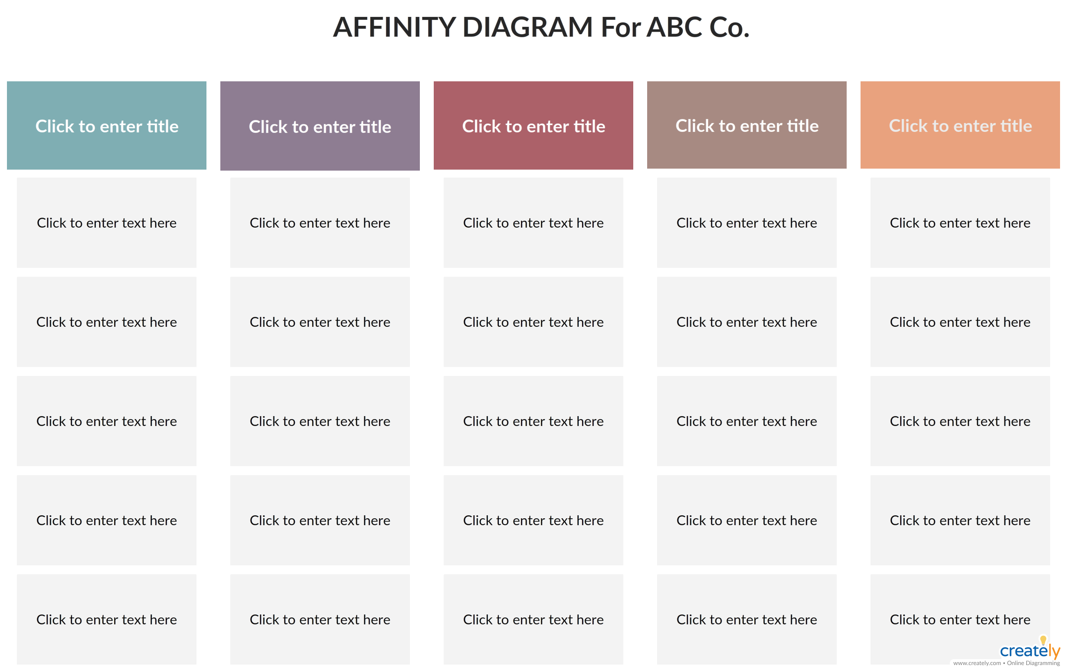 Affinity Diagram affinity diagram template to group similar ideas and find