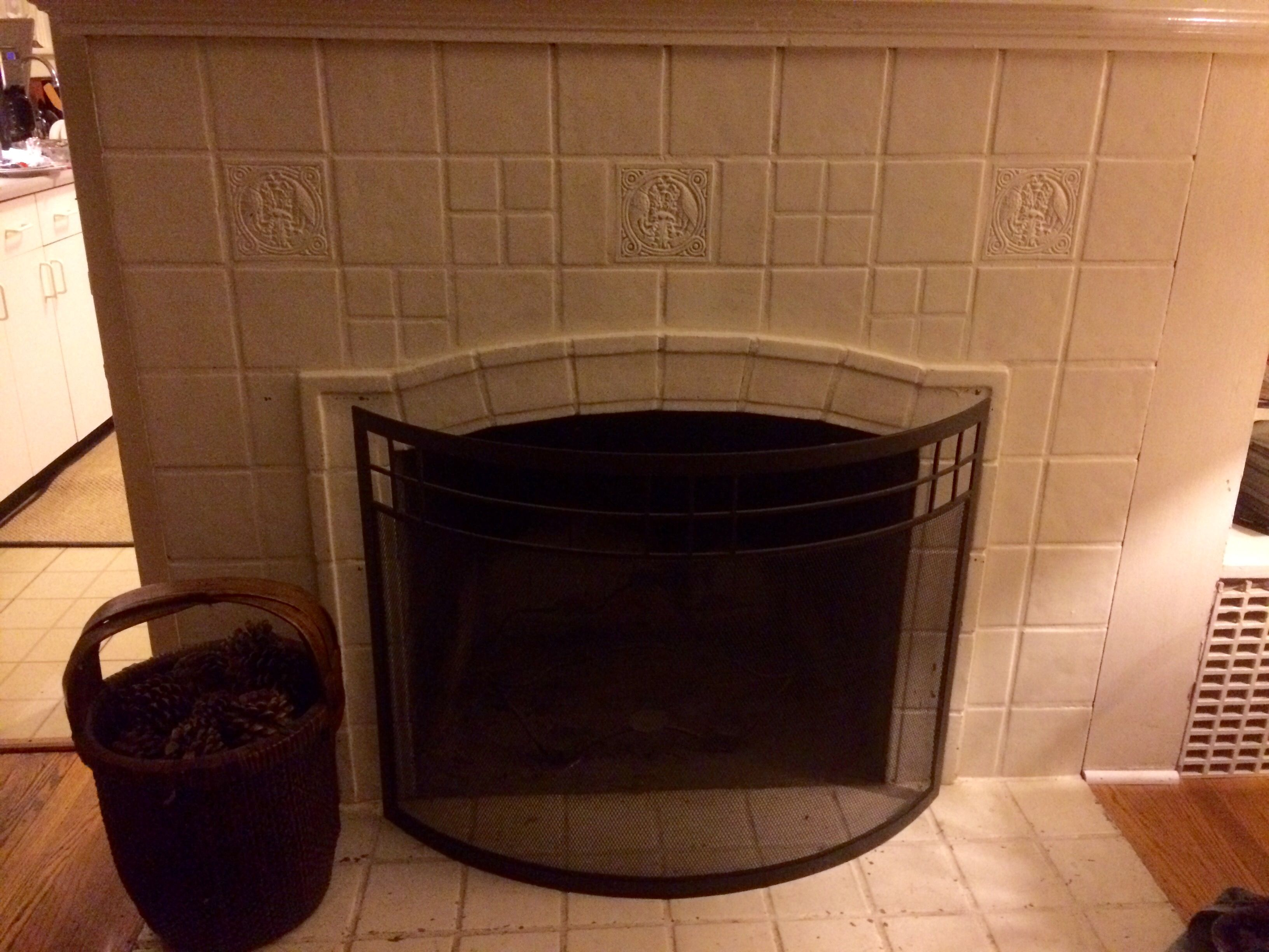 hamilton tile fireplace surround c 1928 in the seattle wa area