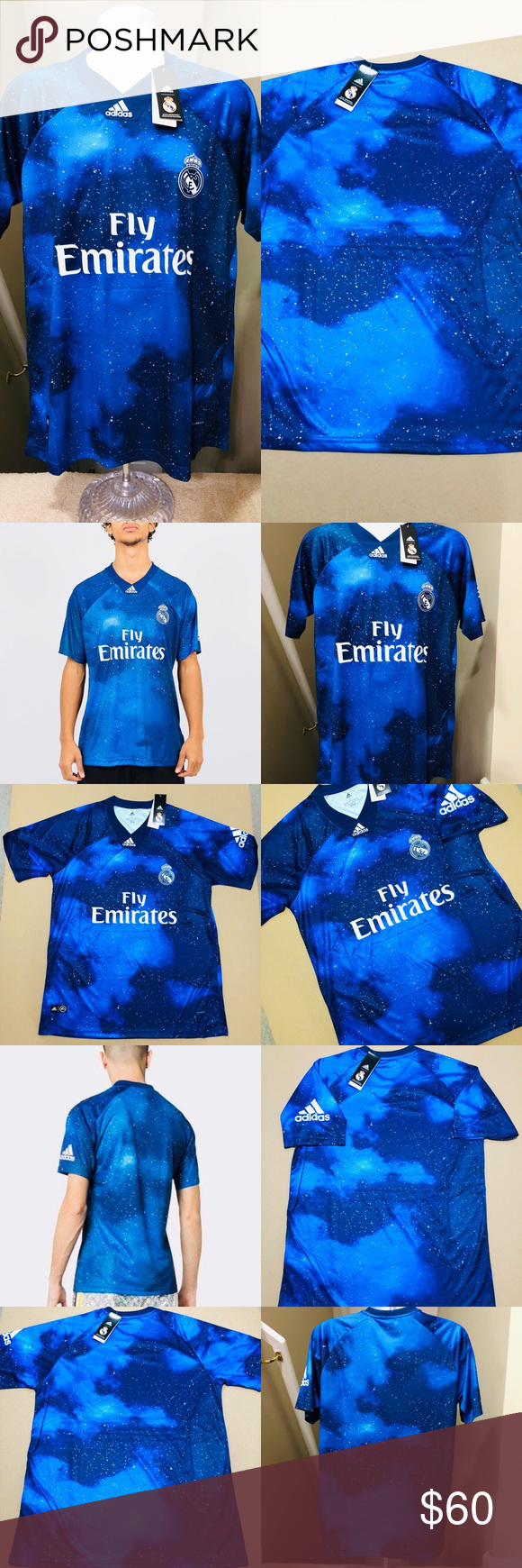 182c4b2ca 2019 Real Madrid EA Sports Soccer Jersey FIFA 2019 Real Madrid FC  RARE  •  Ea Sports Jersey • Futbol Soccer Jersey Football 2018 Real Madrid FiFa 19  Soccer ...