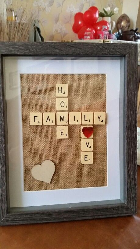 Scrabble frame more josefa manualidades regalos y - Scrabble decoracion ...